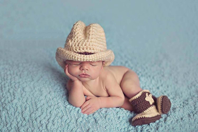amazon com photography prop baby infant lovely cowboy crochet