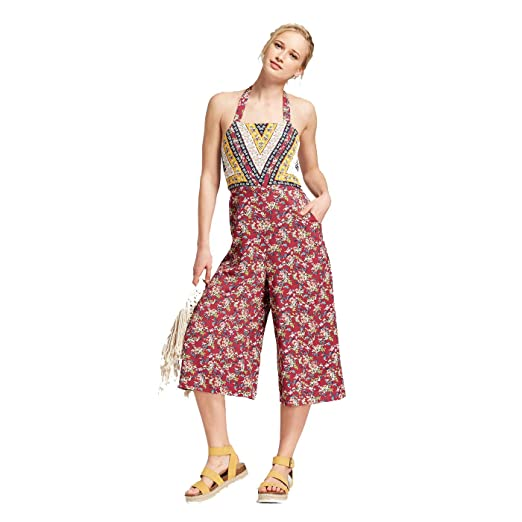 1eab706f76fb Image Unavailable. Image not available for. Color  Xhilaration Women s  Halter Top Overall Jumpsuit ...