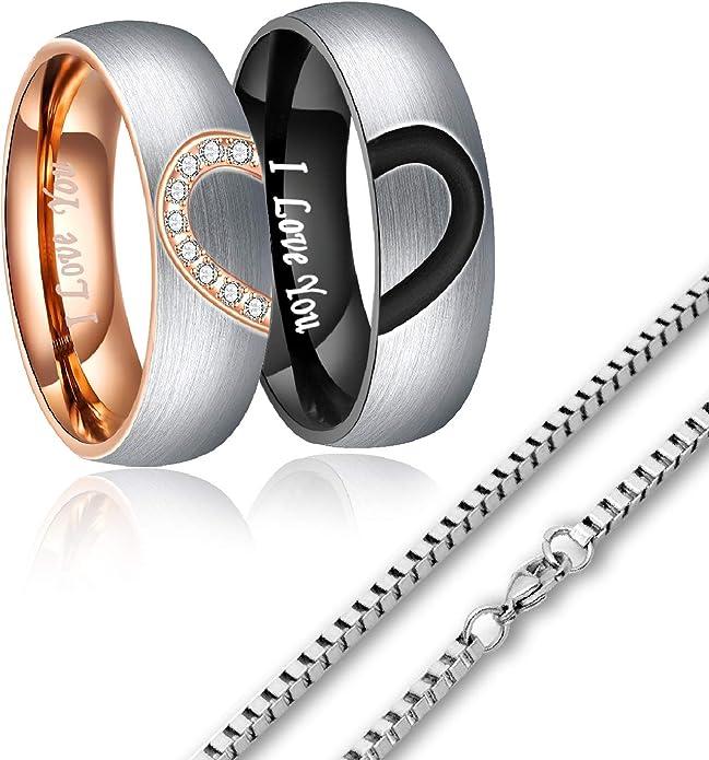 his and her promise ring couple rings Handmade Fingerprint Comic Rings set Love Rings Wedding Rings Set Kiss Matching Wedding Rings