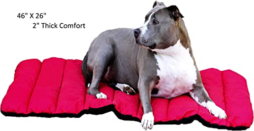 Go Anywhere Dog Bed by GoBuckGo Dog Gear Thickly Cushioned, Easy on The Joints, Yet Simple to roll into Carrying case and take Anywhere. Tough, Durable Ripstop Fabric. Machine wash and Dry.