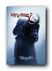 "Batman: the Dark Knight Movie: Joker (Heath Ledger) 'Why So Serious' Wall Poster (Rolled) 24"" x 36"""
