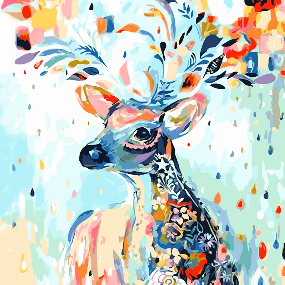 adarl DIY pintura al óleo pintura por número Kit imagen dibujo sobre lienzo por mano color artes manualidades y costura nueva
