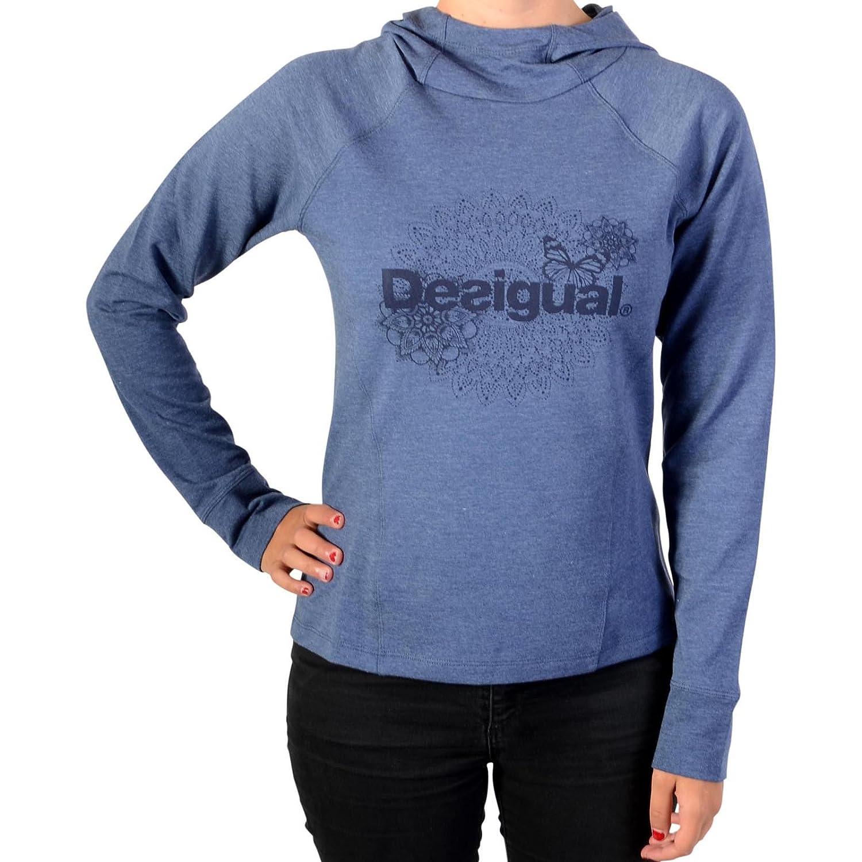 Desigual Sweatshirthirt A Capuche 17WSRK00 Hoodie Essential 5188 Legion Blau