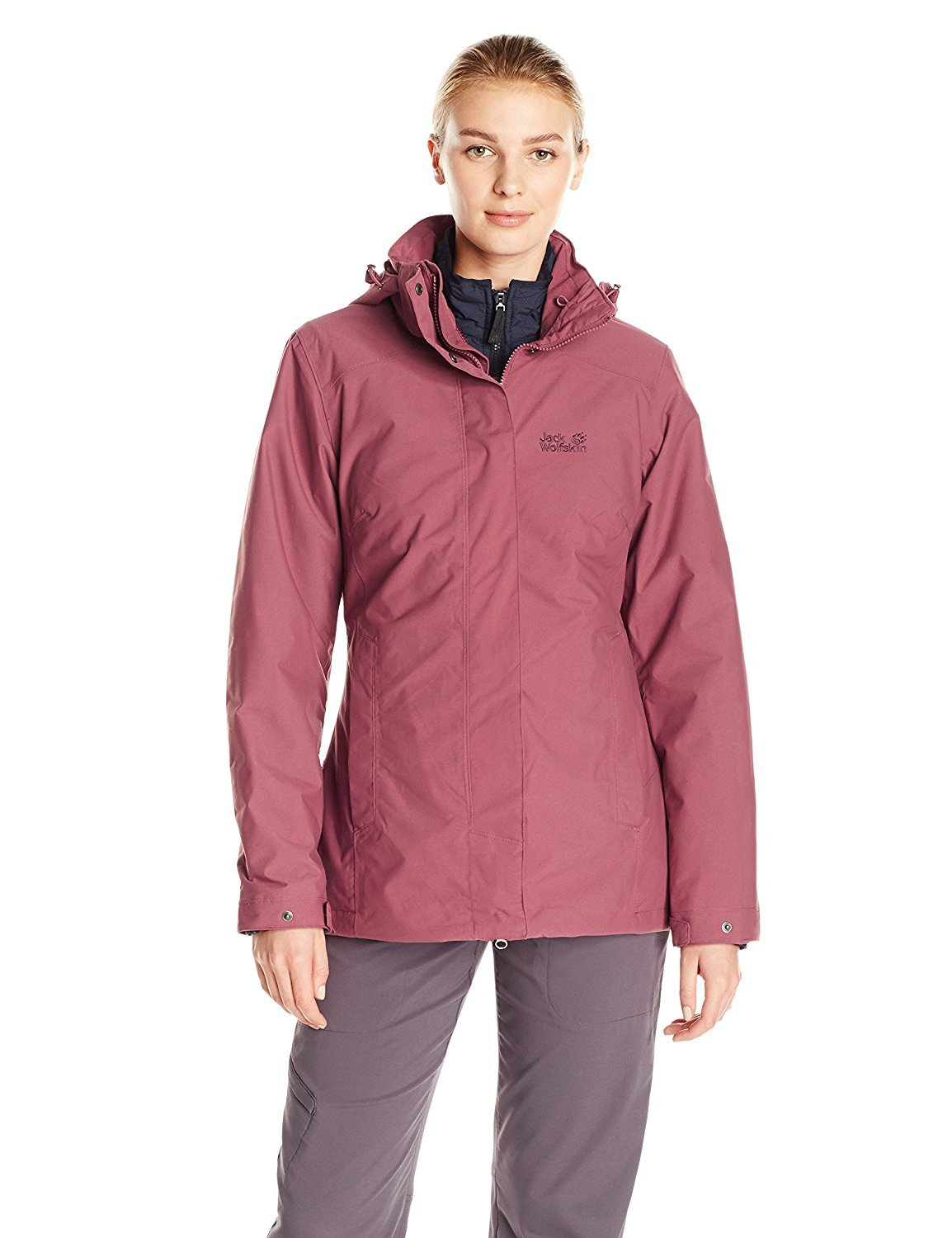 Jack Wolfskin Women's Vernon Jacket XX-Large Dusty Mauve [並行輸入品] B075CKRSJD