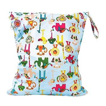 Baby Tuch Wasserdichte Wickeltasche Wiederverwendbar Waschbar Wickeltasche mit Rei/ßverschluss Zwei