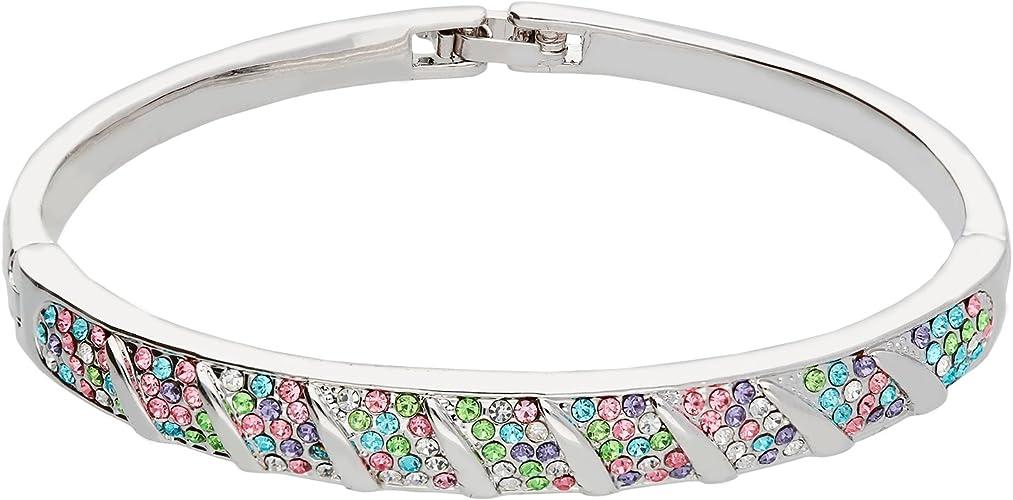 19 cm Strass Geschenk Damen Armband Zirkonia bunt 17