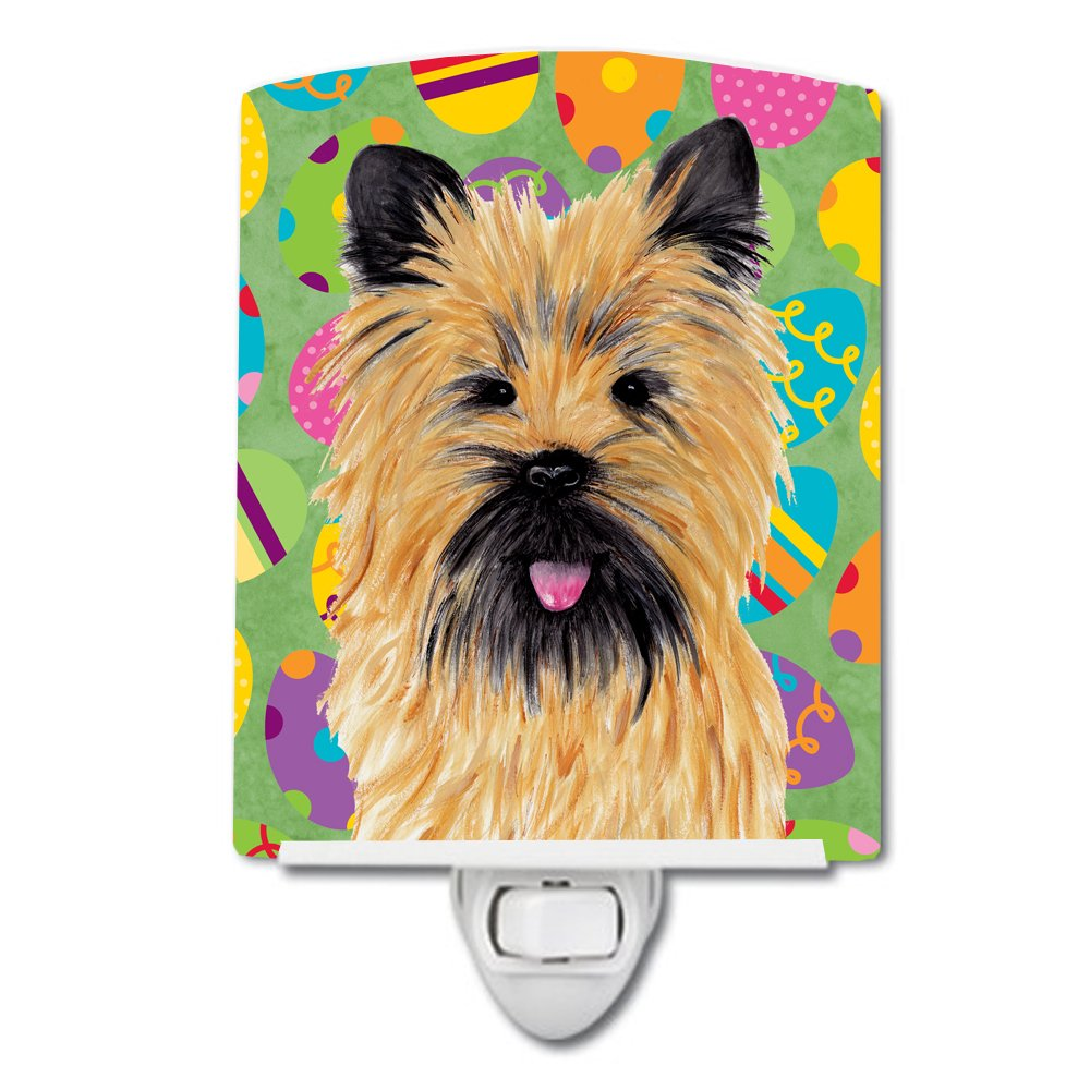 Caroline's Treasures Cairn Terrier Easter Eggtravaganza Night Light, 6'' x 4'', Multicolor