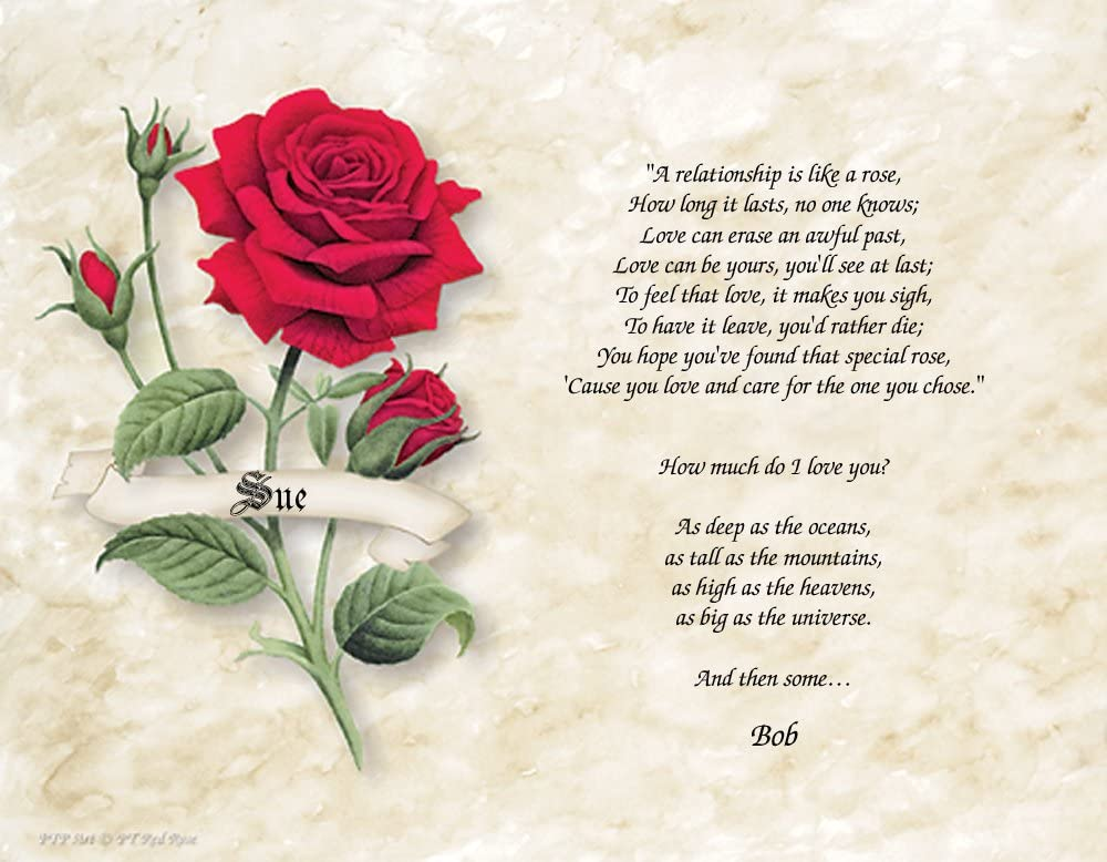 Amazoncom Personalized Poetry Gift Relationship Like A