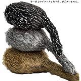 [COSMIC TREE] 癒される 猫のしっぽ ねこ ふりふり 丸形 クッション フェイクファー リアル オシャレ お洒落(ブラウン)