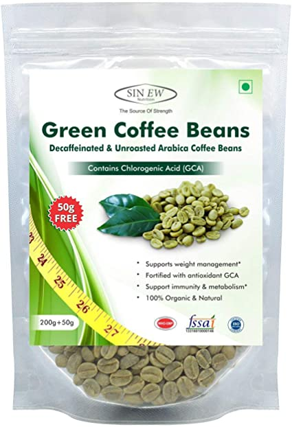 Amazon Com Sinew Nutrition Green Coffee Beans Decaffeinated