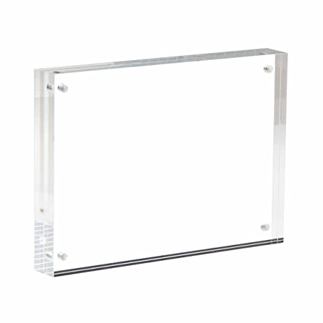 niubee acrylic picture frame 5x7 20 thicker block clear double sided acrylic photo frames