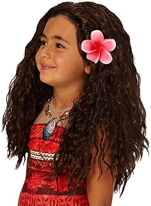 Valen Tree - Disfraz de Moana para niños con peluca y flor: Amazon ...