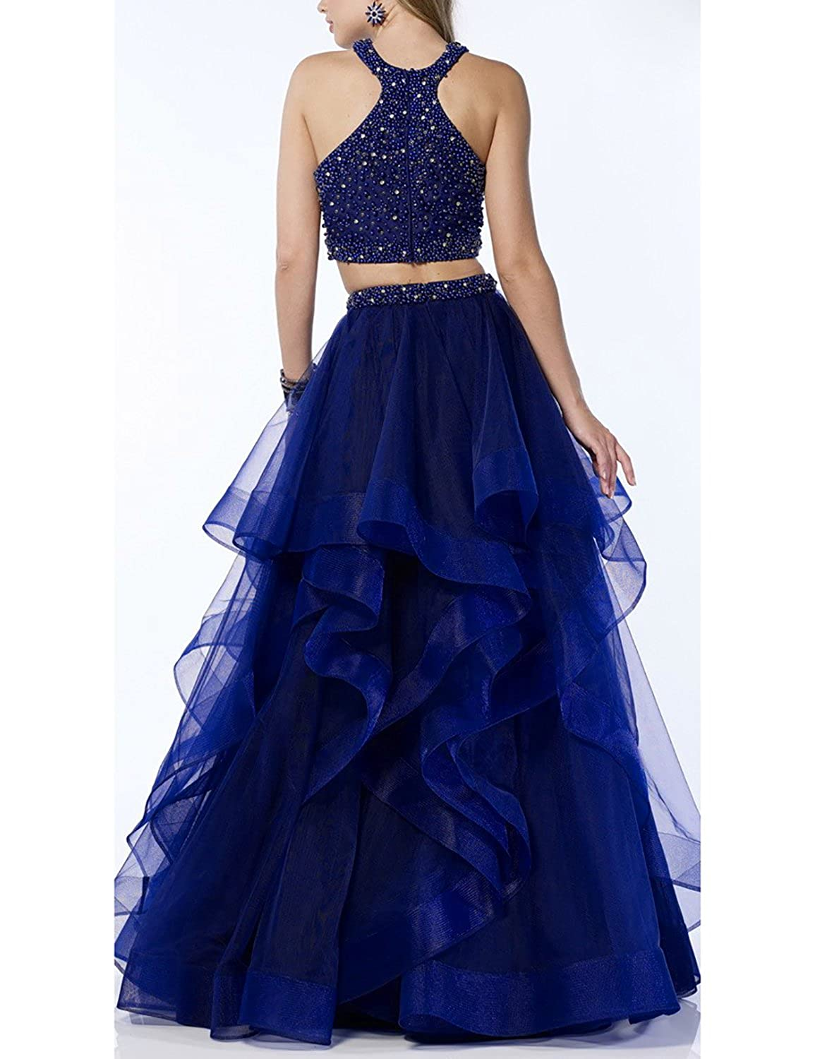 6bcdb1b6a01 DarlingU Womens 2 Pieces Beaded Homecoming Prom Dresses Formal Evening  GownPM267 at Amazon Women s Clothing store