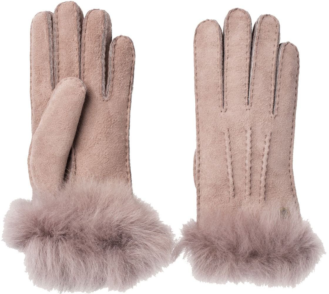 UGG Womens Sheepskin 3 Pt Toscana Glove In Stormy Grey Size Large