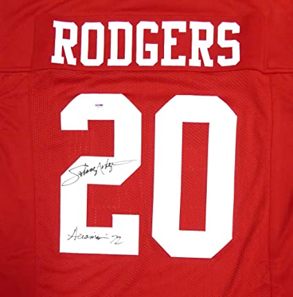 33f577614 Image Unavailable. Image not available for. Color  Nebraska Cornhuskers  Johnny Rodgers Autographed Red Jersey ...