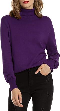 Woolen Bloom Jersey Cuello Alto Camiseta Manga Larga Sueter ...