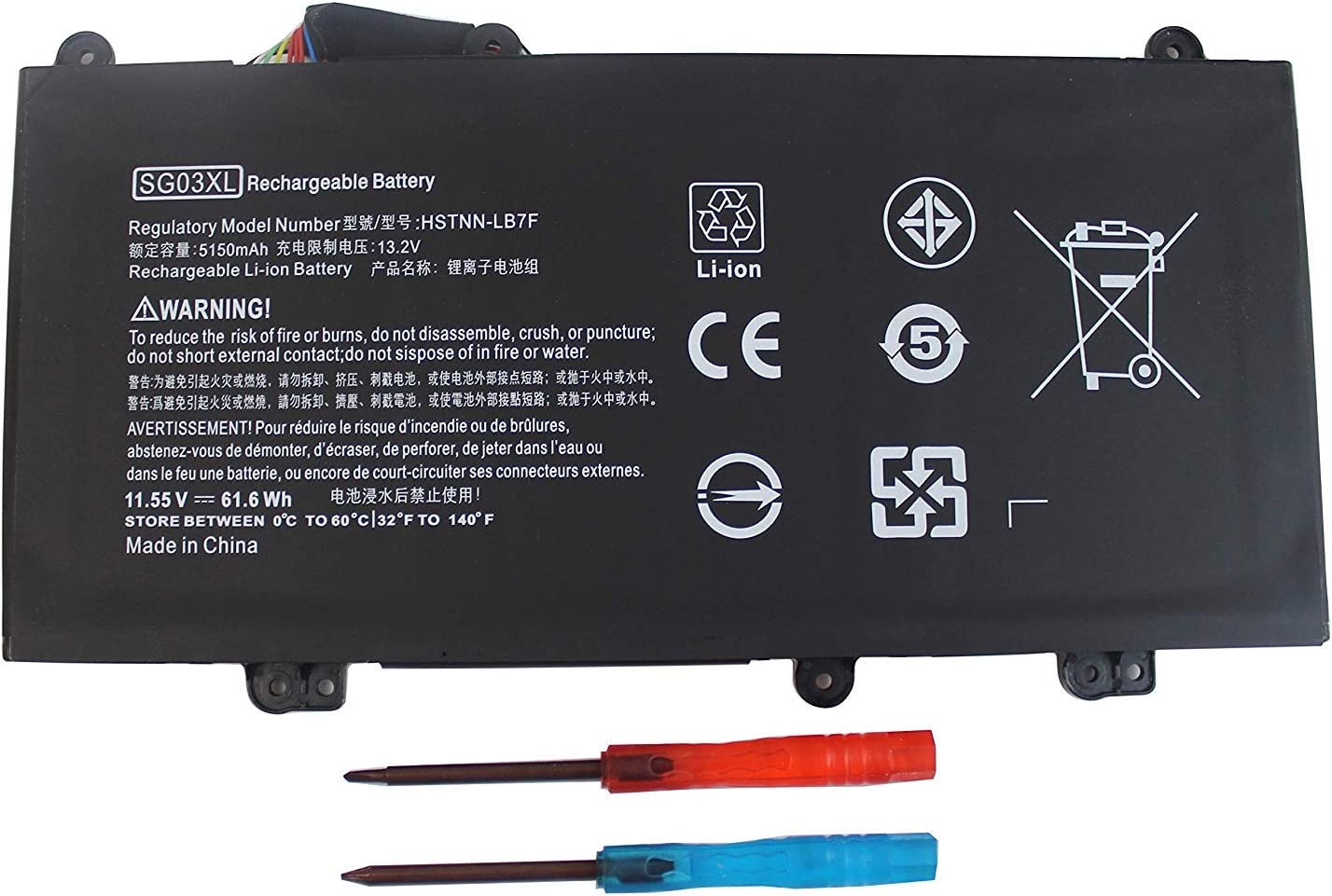 LNOCCIY SG03XL Laptop Battery for HP Envy M7-U M7-u009dx M7-u109dx 17t-U000 17-u011nr 17-u110nr 17-u163cl 17-u177cl Series 849314-850 849315-850 HSTNN-LB7F HSTNN-LB7E TPN-I126