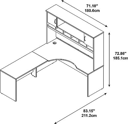 Bush Business Furniture Series C 72W LH Corner L-Desk