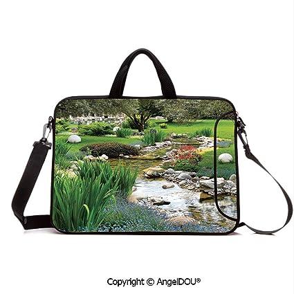5d1d81888386 Amazon.com: AngelDOU Neoprene Printed Fashion Laptop Bag Garden and ...