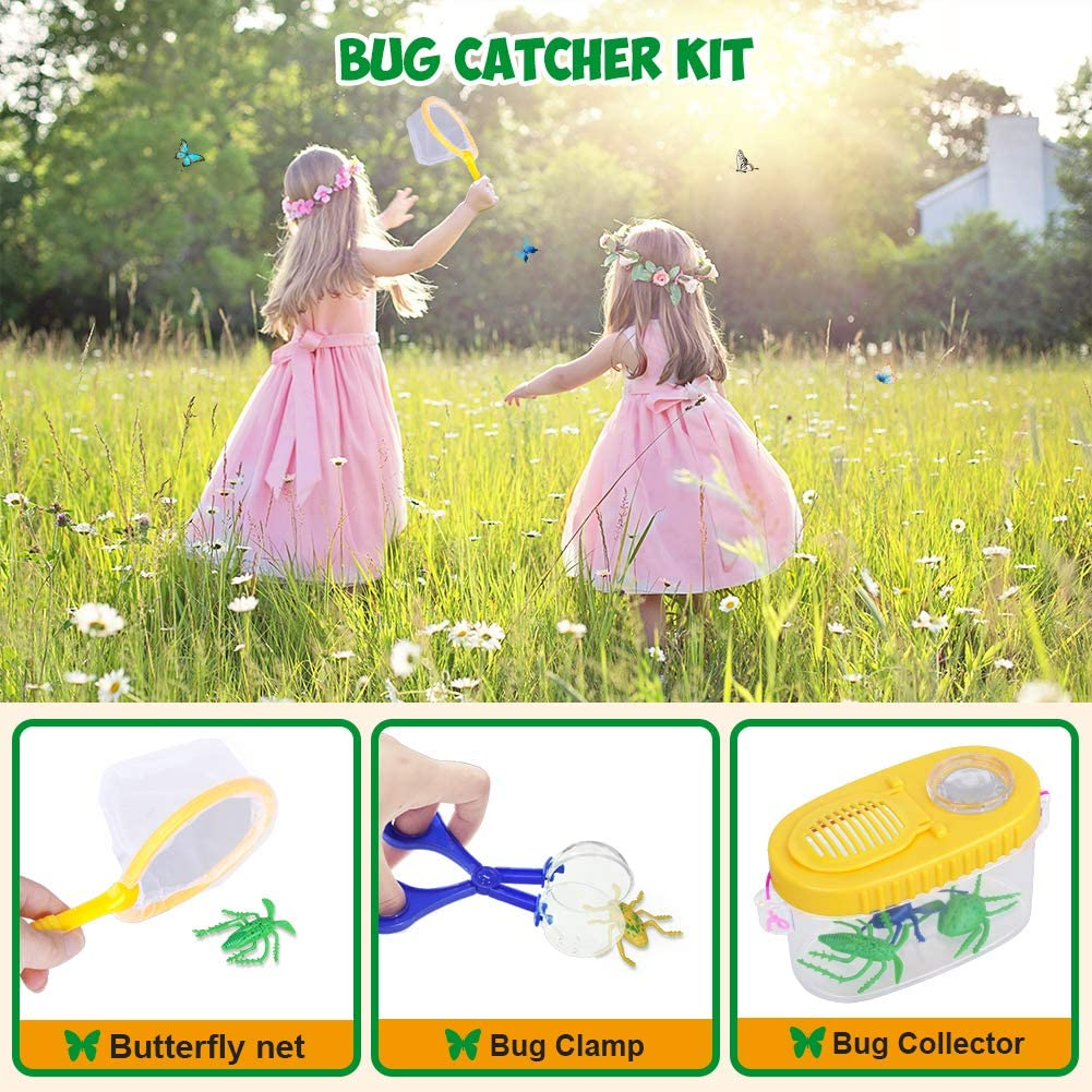 21 Pack Kids Bug Catcher Toys Gifts for 3 4 5 6-10 Years Outdoor Explorer Kit