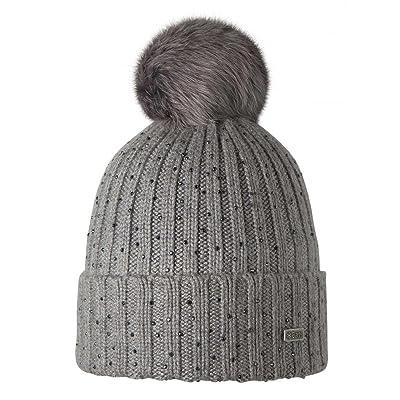 BARTS Bonnet gris perle pompon imitation fourrure Modèle splendor junior et femme