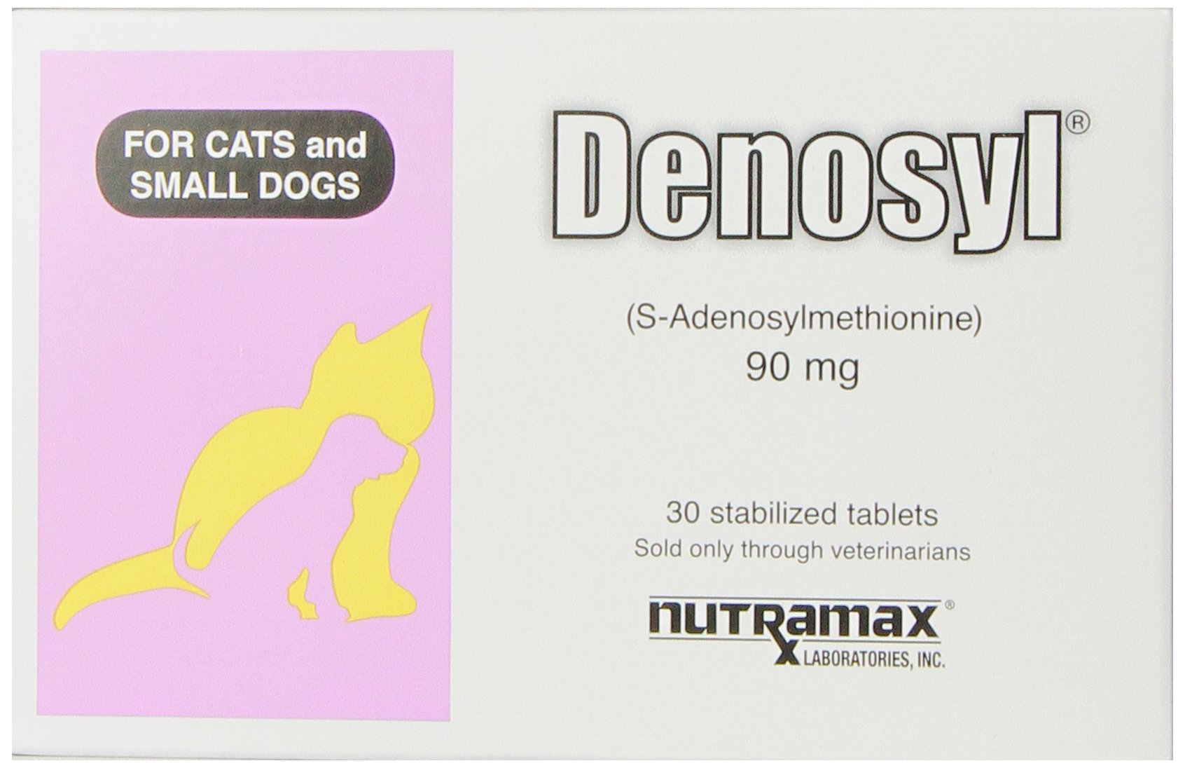 Nutramax Denosyl Tablets, Small Dogs and Cats, 90mg, 30 Count, 6-Pack