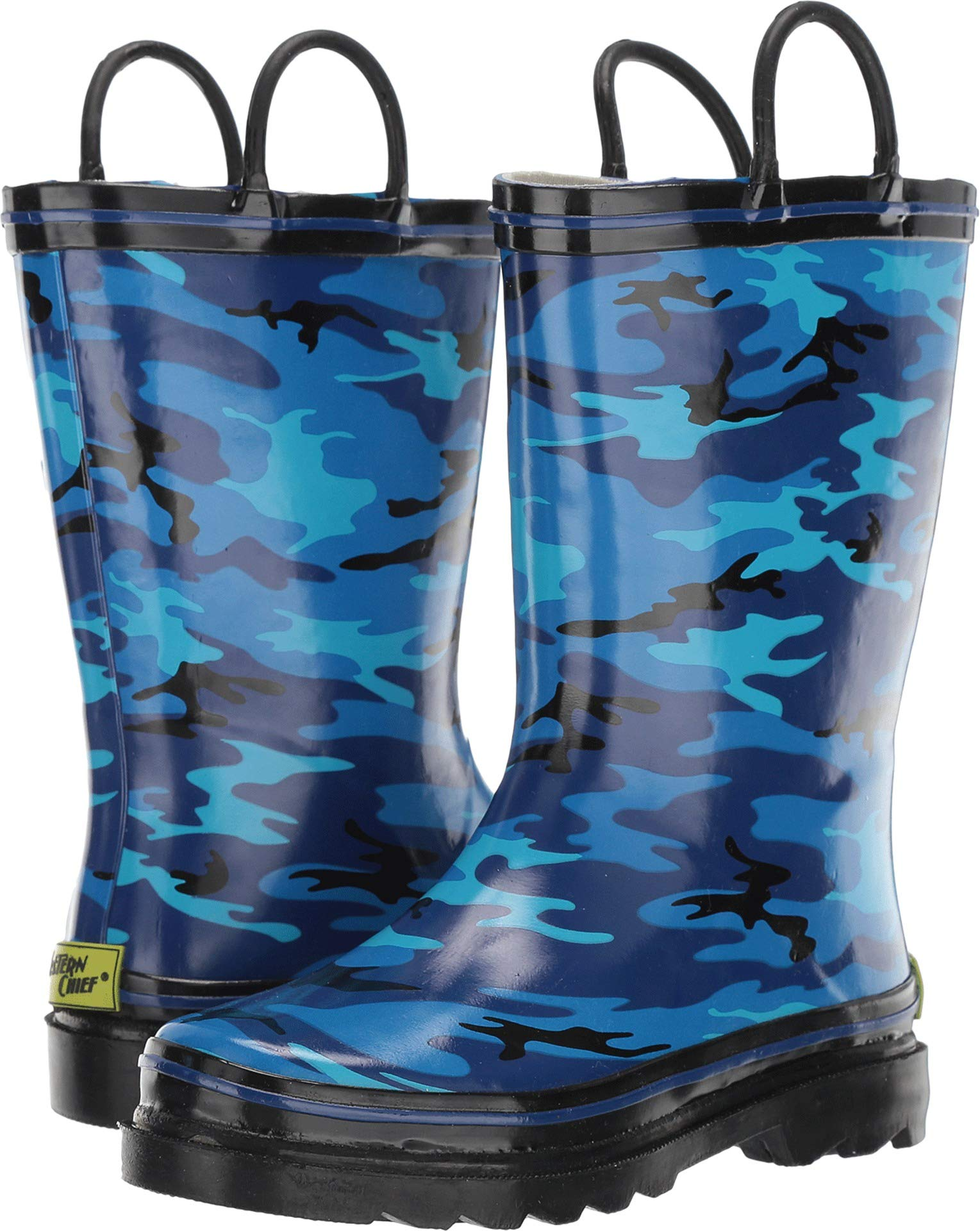 Western Chief Boys Kid's Waterproof Printed Rain Boot, Hunter's Camo, 13/1 M US Toddler