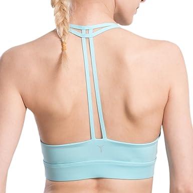AIYIHAN Soutien Gorge de Sport Femme sans Armatures avec Bretelles Fines  Bleu Ciel M 061058719ee