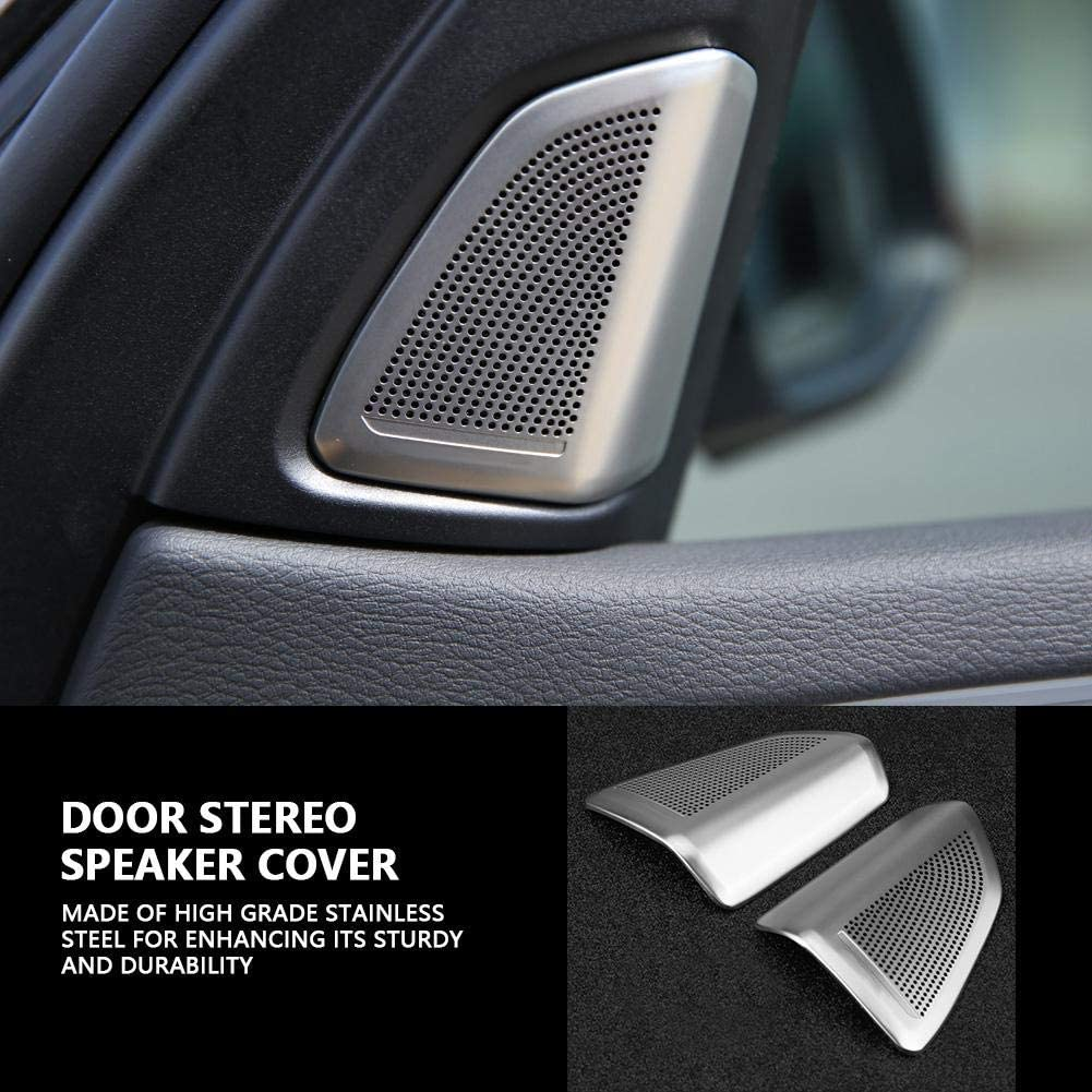 Door Stereo Speaker Covers Car Accessories Styling Interior Car Door Stereo Audio Speaker Decoration Cover Trim For X5 X6 F15 F16 2014-2018