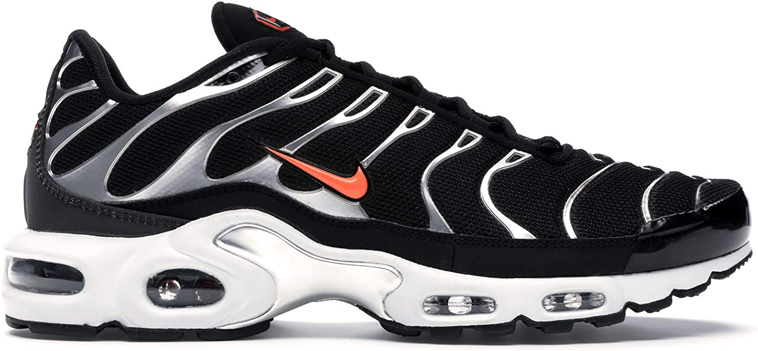 Amazon.com | Nike Air Max Plus TN SE Black/Hyper Crimson ...