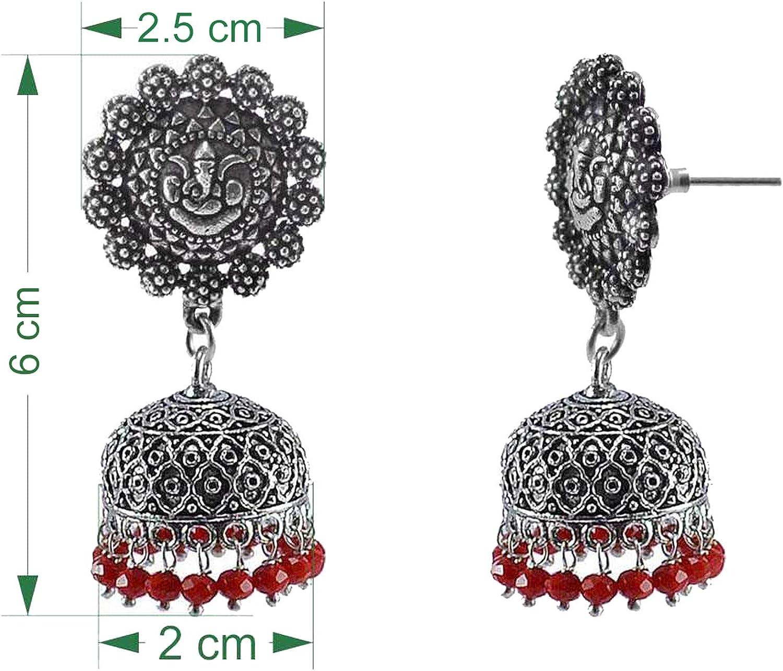 Beaded Indian Round Jhumki-Handmade Hook Earrings-Jaipur Jewellery Saamarth Impex