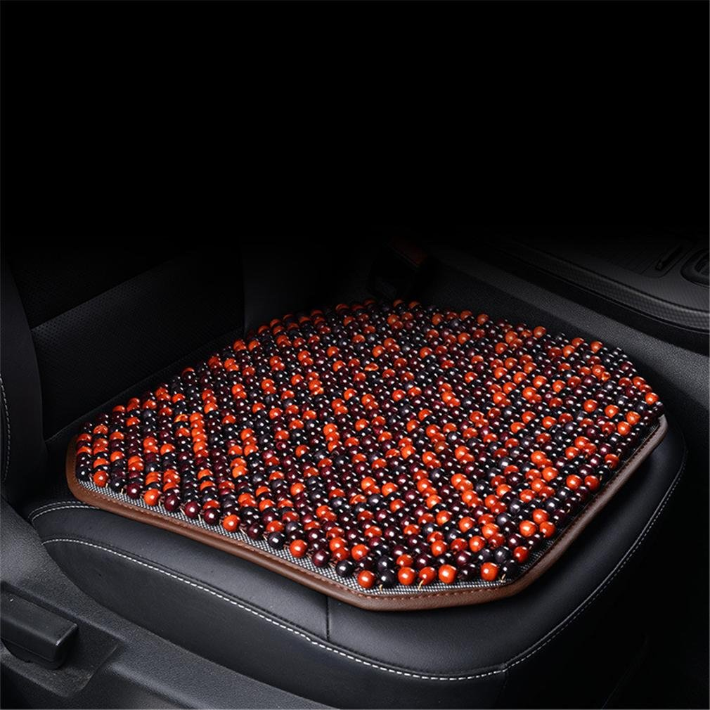 Car Wood Beads Seat Cushion, Home Office Chair Massage Mat Cover Hips Massage For Auto SUV Truck Long Time Driving Travelling Zcar