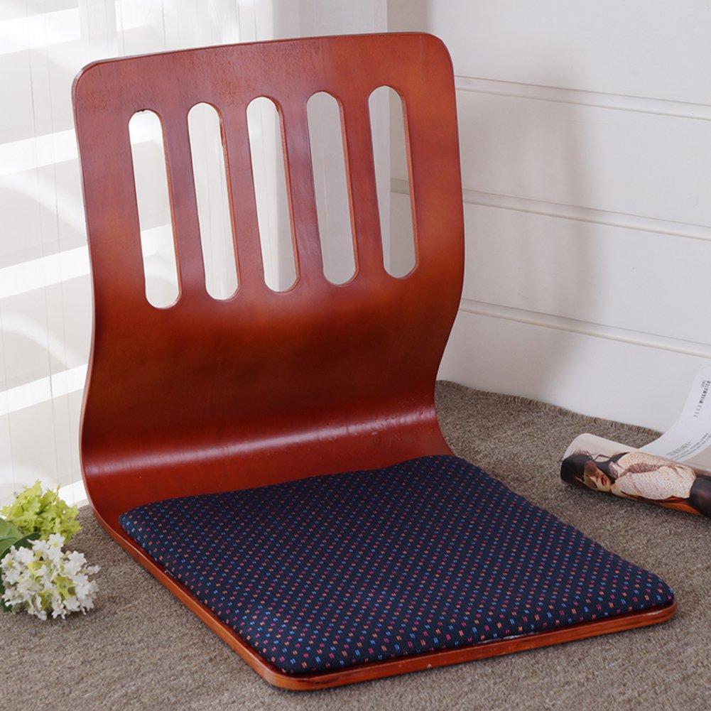 QIQ Tatami Room Chair,Bed Dormitory Back Chair Japanese Legless Chair Bay Window backrest Chair Lazy Chair Cushion-E by QIQ