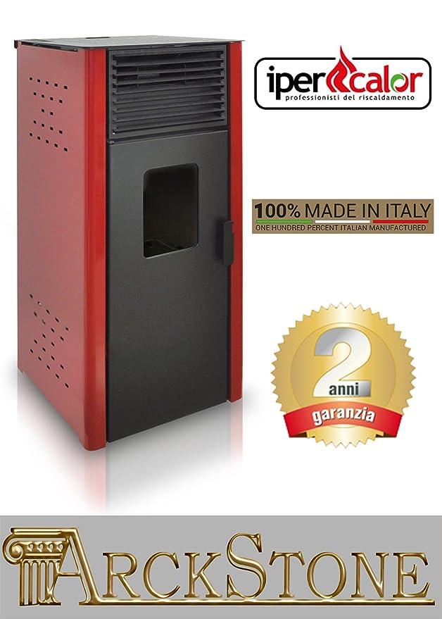 Estufa de pellets Aire Caliente Ventilata económica marca Centro Flam ipercalor Basic Gemma 0 revestimiento color beige rojo burdeos gris antracita Potencia ...
