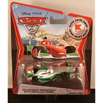 Disney / Pixar CARS 2 Movie Exclusive 155 Die Cast Car SILVER RACER Francesco Bernoulli by Mattel: Toys & Games