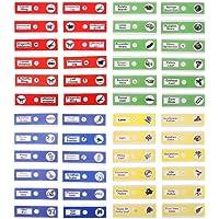 UEETEK 48 Piezas Preparado portaobjetos, 4 colores Muestra