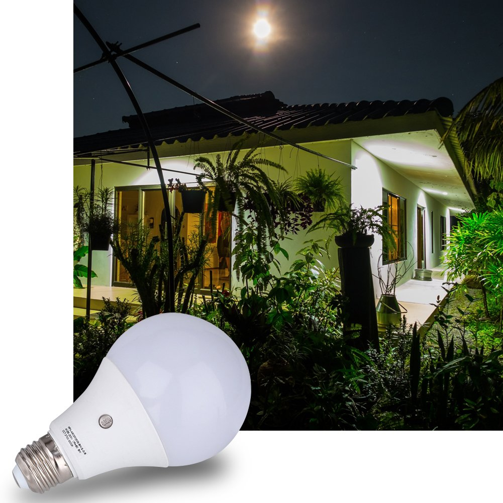 6-Pack E27 7-Watt 630Lumens LED Dusk-to-Dawn Sensor Light Bulbs Built-in Photosensor Detection Auto Switch Energy Saver Light Indoor//Outdoor Lighting Lamp for Porch Hallway Patio Garage 6000K