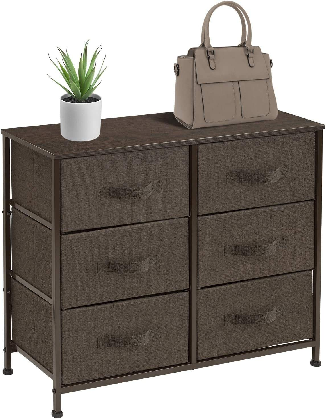 Sorbus Dresser with 3 Drawers - Furniture Storage Tower Unit for Bedroom,  Hallway, Closet, Office Organization - Steel Frame, Wood Top, Easy Pull