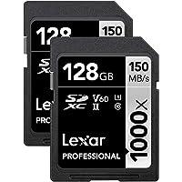 2-Pack Lexar 1000x 128GB UHS-II / U3 1000x SDXC Memory Card