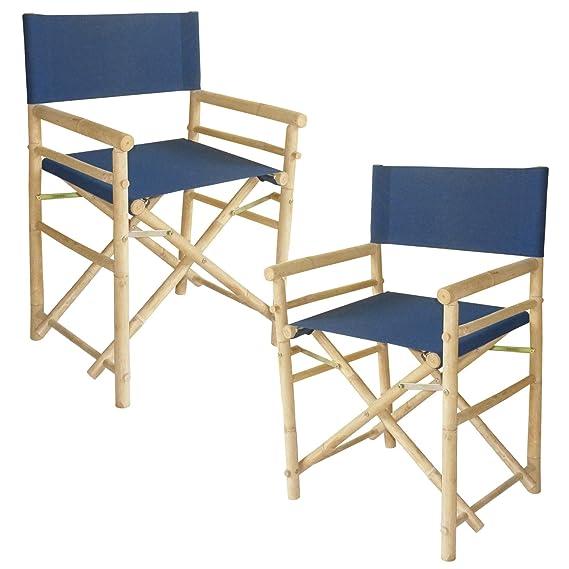 Amazon.com: Bambú 18 inch estándar altura Directores Sillas ...