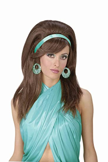 Amazoncom Forum Novelties Womens 60s Mod Wig Auburn One Size