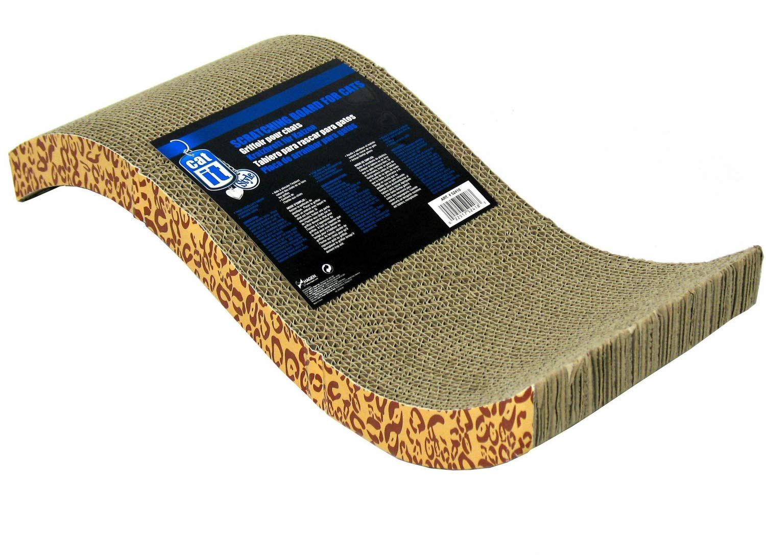 Catit Pattern Scratcher with Catnip for Cats, Animal Print, 3 Pack by Catit
