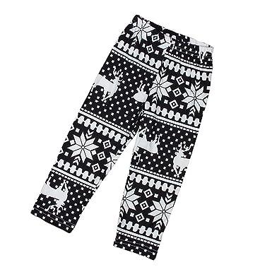 16b2f68c27995 Kingko® Fashion Kids Girls Christmas Snowflake Reindeer Leggings Skinny  Pencil Pant Trousers Leggings Stretchy Pants