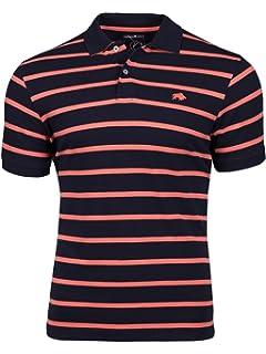 RAGING BULL Breton navy//orange 100/% cotton polo size small-XXL