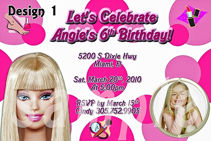 Barbie Personalized Birthday Invitations More Designs Inside