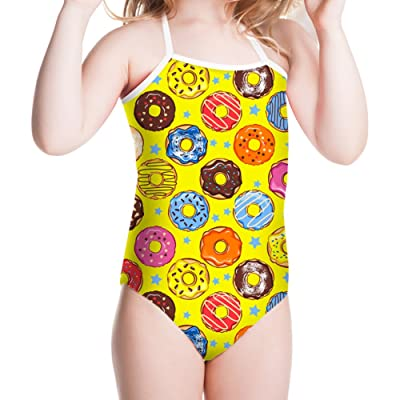 Showudesigns Adorable Swimsuit Girls One Piece Doughnut Bathing Suit 3Y-8Y