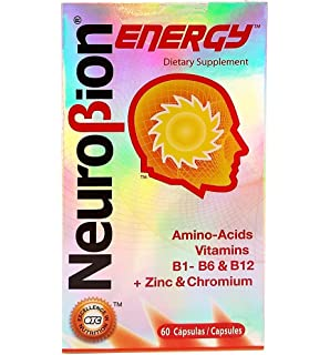 Neurobion Energy, 60 Capsules (3 Pack) - Amino Acids Vitamin B1 B2 B6
