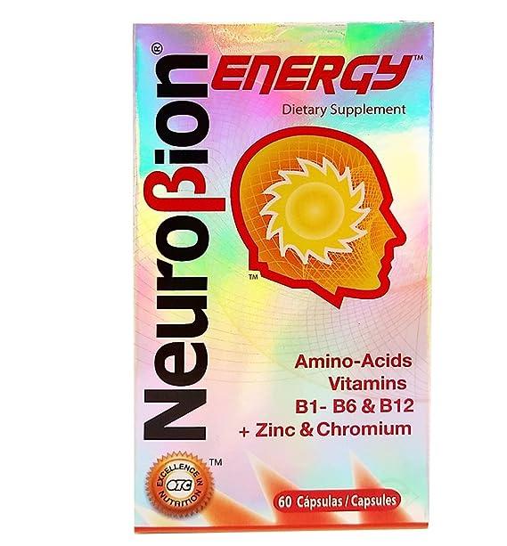 PAQUETE DE 3 Neurobion Energia - Los Aminoácidos Vitamina B1 B2 B6 B12 - Aumenta Cerebro