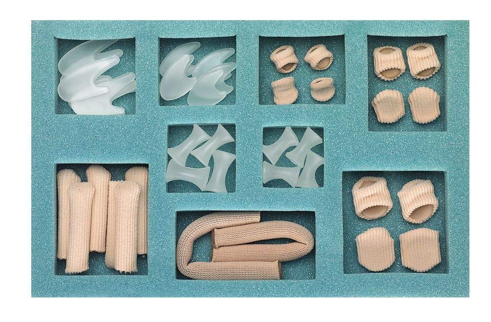 Silipos Digital Care Kit - Digital Pads, & Caps, Mesh Tubing, Gel Toe Spreaders & Separators #30365 by Silipos