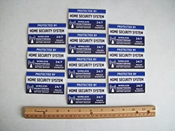 Amazon.com: 10 Home sistema de seguridad ventana calcomanías ...